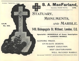A 1901 Ad for S.A. MacFarland & Company's location in England